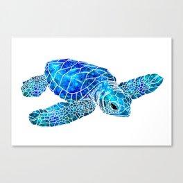 Sea Turtle Watercolor Art Canvas Print