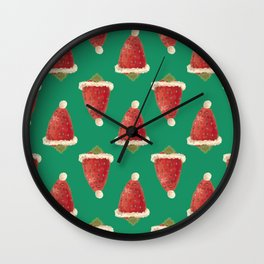 christmas strawberry Wall Clock