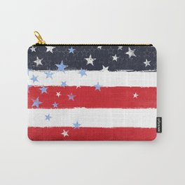 Patriotic Grunge Stars and Stripes Carry-All Pouch