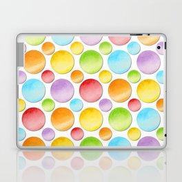 Rainbow Polka Dots Laptop & iPad Skin