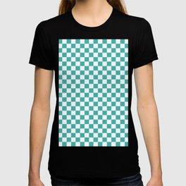 Small Checkered - White and Verdigris T-shirt