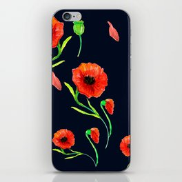 Red Poppies Field iPhone Skin
