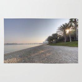 Dubai Beach Sunset Rug