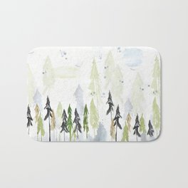 Into the woods woodland scene Bath Mat