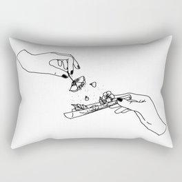 How to roll up your sadness? Rectangular Pillow