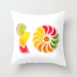 multicolored chewy gumdrops sweets Throw Pillow