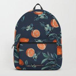 Lemon and Leaf Pattern VI Backpack