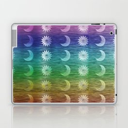 Rainbow Sun and Moon Celestial Hippie Pattern Laptop & iPad Skin