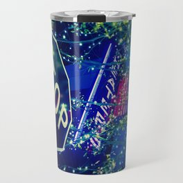 Abstract Night Life Photography Travel Mug