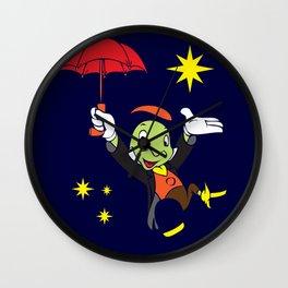 Jiminy Cricket Wall Clock