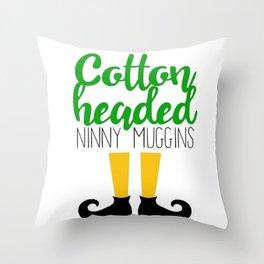 Cotton Headed Ninny Muggins Throw Pillow
