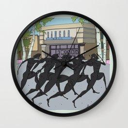 """I'm just gonna run in"" (Bangor Maine Mall) Wall Clock"