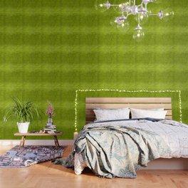"""""""Summer Fresh Green Garden Burlap Texture"""" Wallpaper"""
