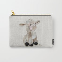 Cuddly Donkey Watercolor Carry-All Pouch