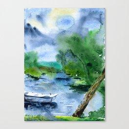 Trakai lake in Lithuania Canvas Print