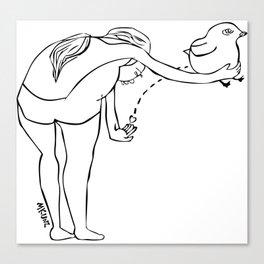 Bird Dropping Canvas Print