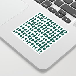 Green Abstract Paint Splotches Sticker