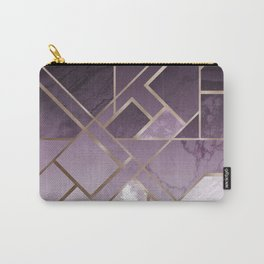 Purple geometric marble pattern Carry-All Pouch