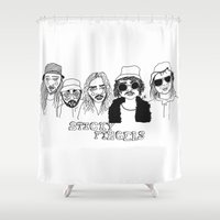 cactei Shower Curtains featuring Sticky Fingers  by ☿ cactei ☿