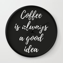 The Coffee Lover I Wall Clock
