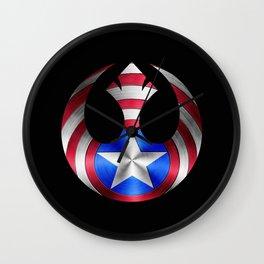 Rebel Shield Wall Clock