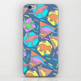 Nineties Dinosaur Pattern iPhone Skin