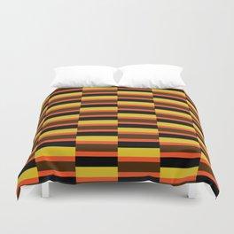Geometric Pattern #118 (orange brown stripes) Duvet Cover
