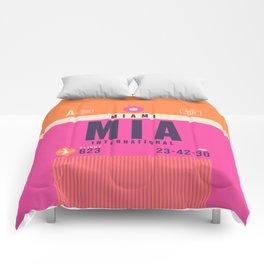 Retro Airline Luggage Tag - MIA Miami Comforters