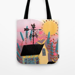 Summer Sunset Weathervane Tote Bag