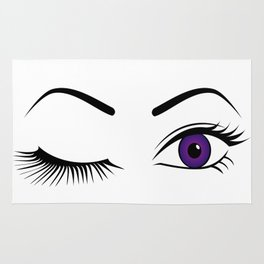 Violet Wink (Left Eye Open) Rug