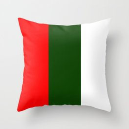 Team Colors 7....red,green and white Throw Pillow