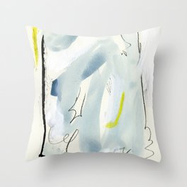 Silk Chiffon Blue Throw Pillow
