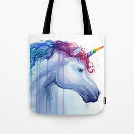 Rainbow Unicorn Colorful Watercolor Animal Tote Bag