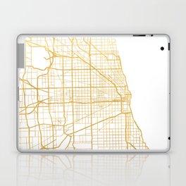 CHICAGO ILLINOIS CITY STREET MAP ART Laptop & iPad Skin