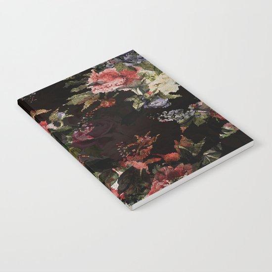 Dark Garden Pattern Notebook