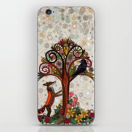 fox and crow iPhone Skin
