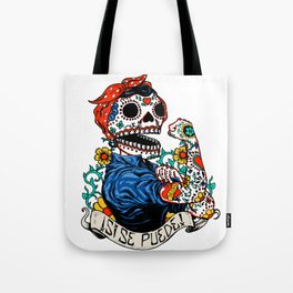 We Can Do It Skull Tote Bag