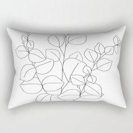 Minimalistic Eucalyptus  Line Art Rectangular Pillow