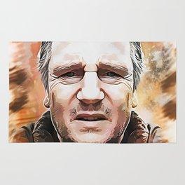 Liam Neeson Caricature Rug