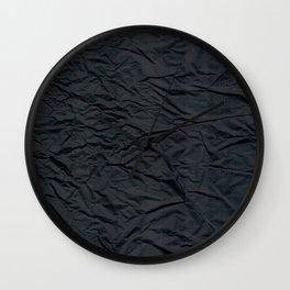Crumple raven's wing Wall Clock