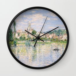 Vetheuil in Summer 1880 by Claude Monet Wall Clock