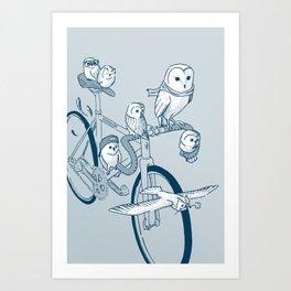 Hibougent - Bicycle Art Print