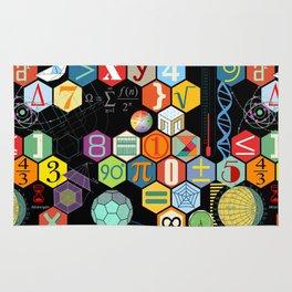 Math in color Black B Rug