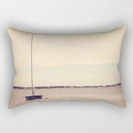Lone Boat Rectangular Pillow