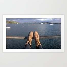 Shoes and a view Art Print