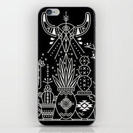Santa Fe Garden – White Ink on Black iPhone Skin