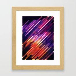 PONG - Pattern Framed Art Print
