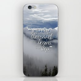 A journey of a thousand miles begins with a single step iPhone Skin