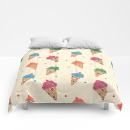 Fun Ice Cream Pattern Comforters