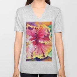 Tropical Hibiscus 13 Unisex V-Neck